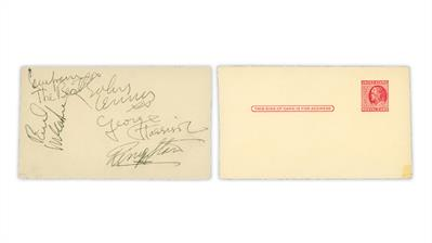 beatles-signatures-united-states-benjamin-franklin-postal-card
