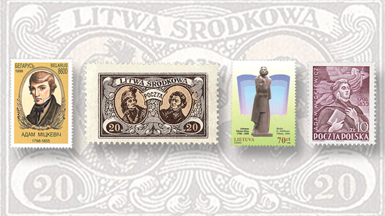 belarus-adam-mickevitch-stamp