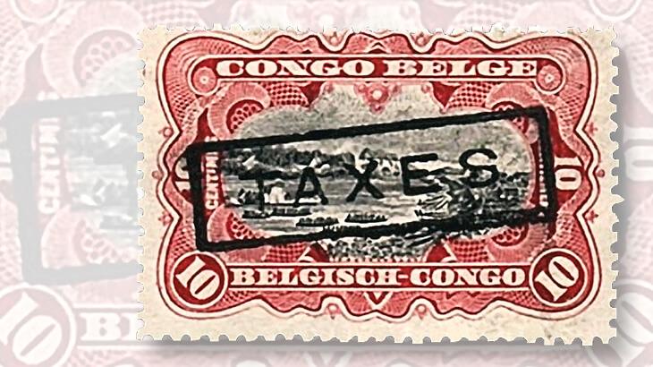 belgian-congo-stamp-taxes-overprint