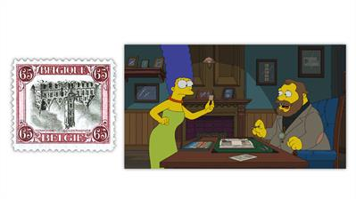 belgium-1920-termonde-invert-stamp-simpsons-episode