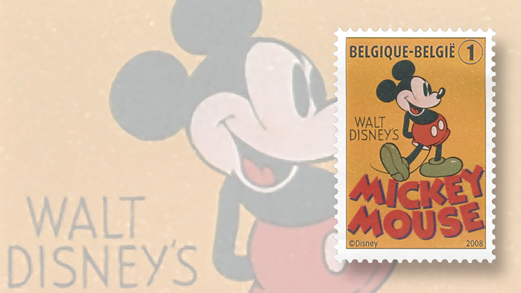 belgium-disney-80th-anniversary-mickey-mouse-stamp-2008