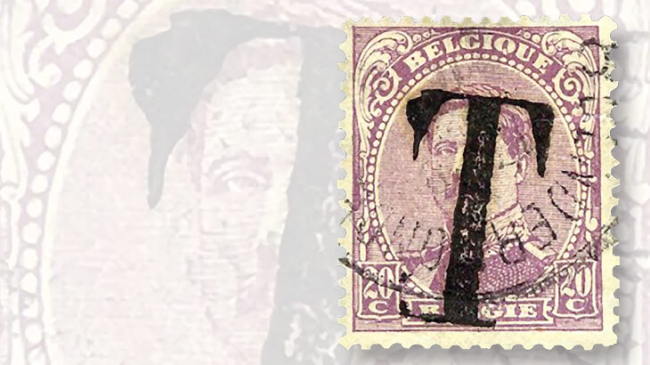 belgium-king-albert-postage-due-stamp