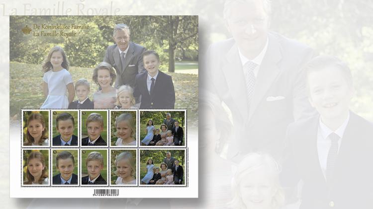 belgium-royal-family-stamp-pane