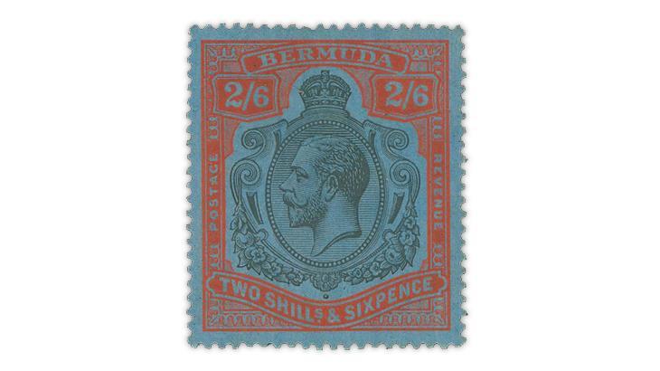 bermuda-1932-2-shilling-6-penny-king-george-v-stamp