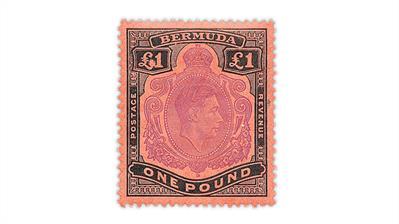 bermuda-1951-king-george-vi-stamp-white-island-flaw