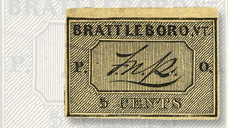 black-brattleboro-vt-postmaster-provisional-stamp