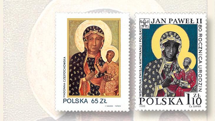 black-madonna-jasna-gora-stamp