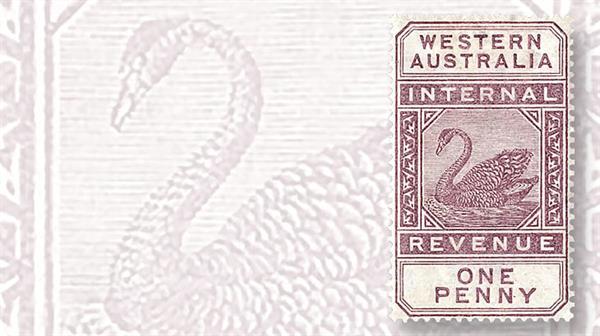black-swan-postal-fiscal-stamp