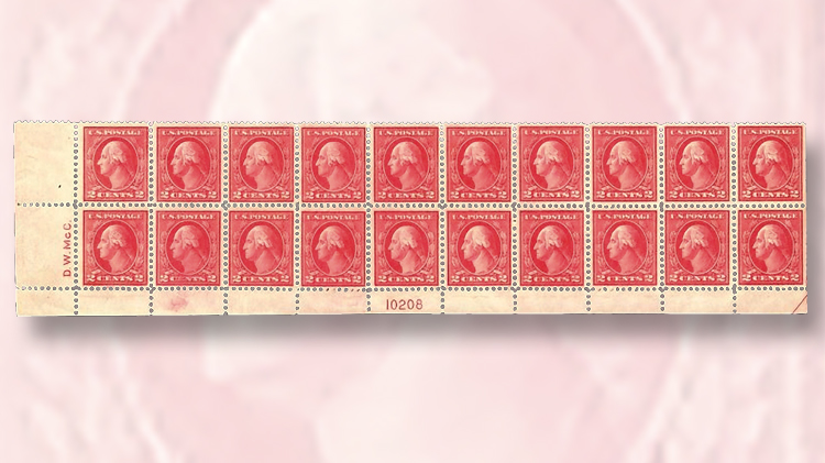 block-of-20-two-cent-washington-franklin-stamps