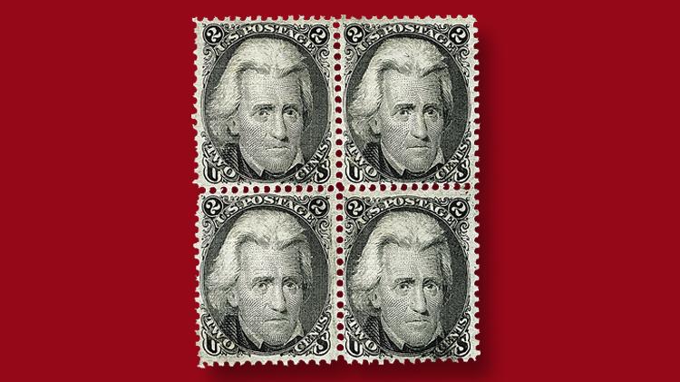 block-two-cent-black-andrew-jackson-stamp