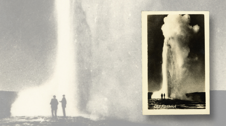 blog-charles-snee-yellowstone-park-souvenir-mailbag-photograph-old-faithful-geyser-1930s