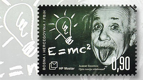 bosnia-croat-administration-einstein-stamp