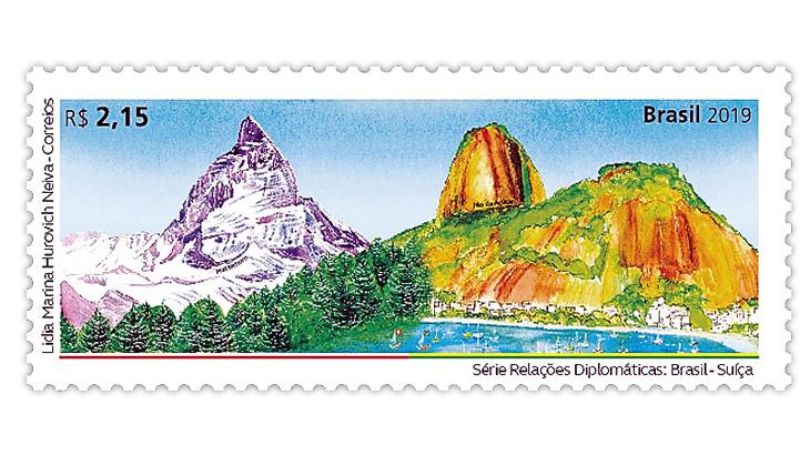 brazil-2019-diplomatic-relations-bicentennial-switzerland-stamp