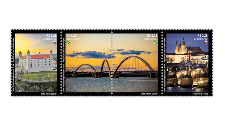 brazil-2020-diplomatic-relations-czech-republic-slovakia-stamps