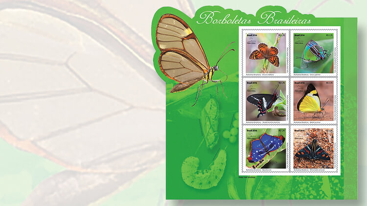 brazilian-butterfly-souvenir-sheet