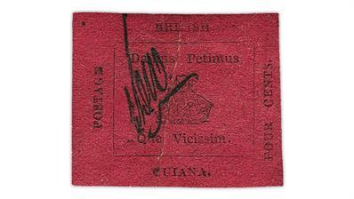 british-guiana-1856-4-cent-black-on-magenta-stamp