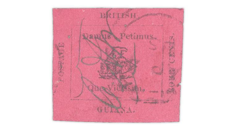 british-guiana-1856-4-penny-black-magenta-paper-stamp