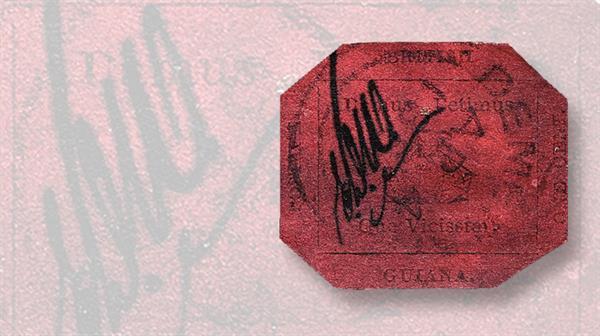 british-guiana-1c-magnta-world-stamp-show-ny-2016