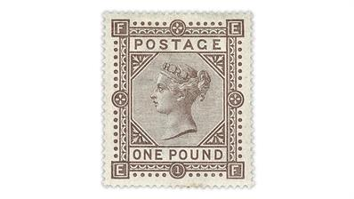 brown-lilac-queen-victoria stamp