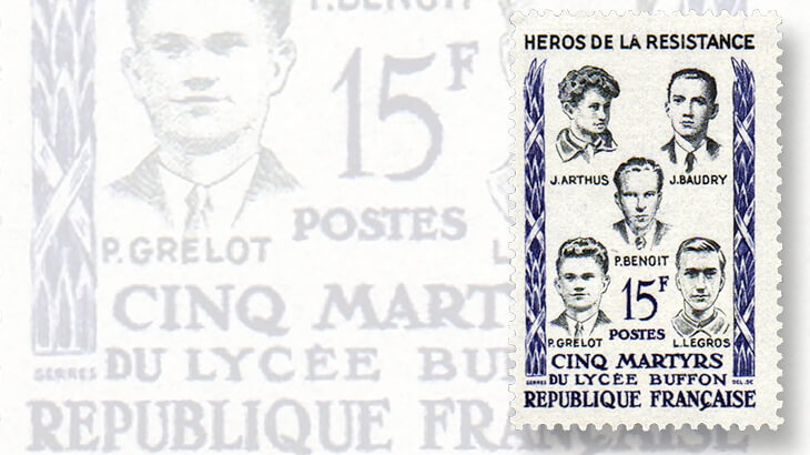 buffon-school-heroes-france-stamps