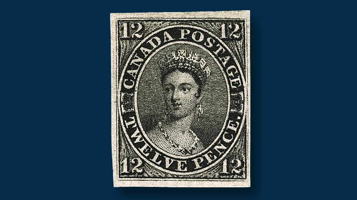 canada-1851-12-penny-black-queen-victoria-stamp