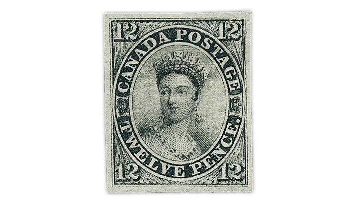 canada-1851-12-penny-black-queen-victoria-stamp