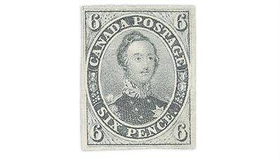 canada-1855-slate-gray-6-penny-prince-albert-stamp