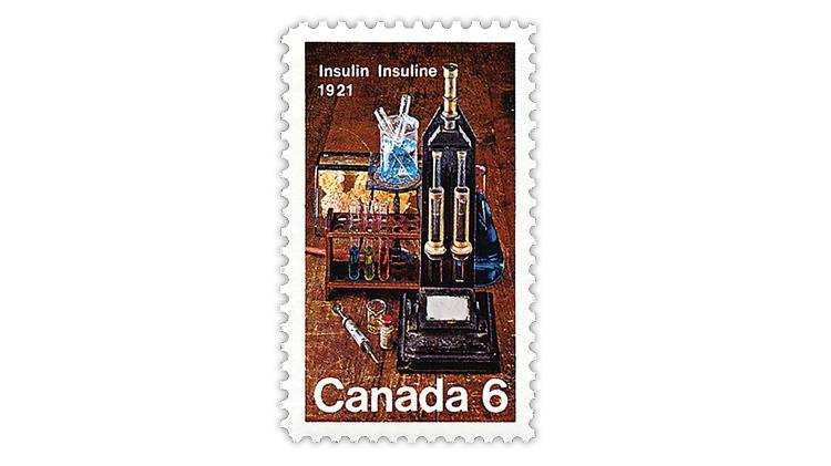 canada-1971-50th-anniversary-insulin-discovery-stamp