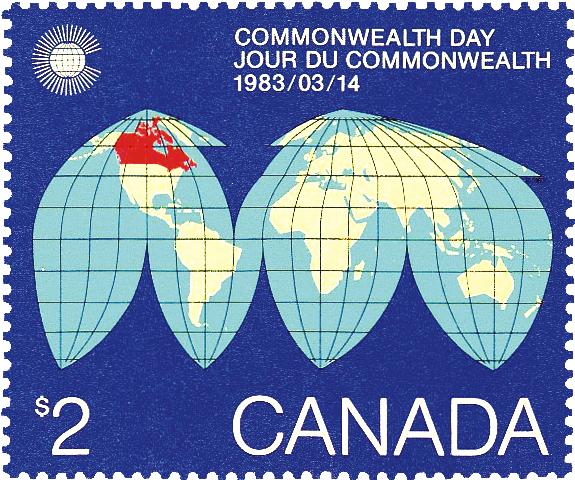 canada-1983-dollar2-commonwealth-day-stamp