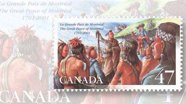 canada-2001-la-grande-paix-de-montreal-stamp
