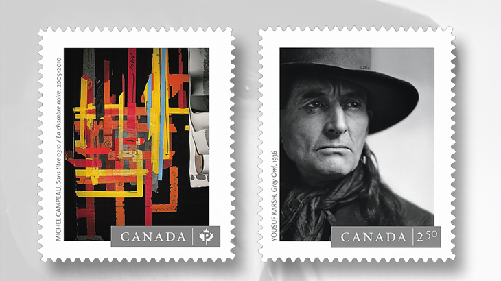 canada-2016-photographers-stamps-michel-campeau-yousuf-karsh