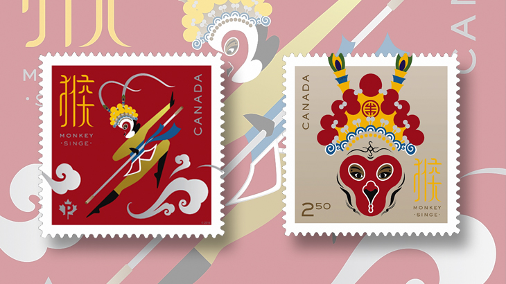 Monkey King to shine on Canada Lunar New Year stamps