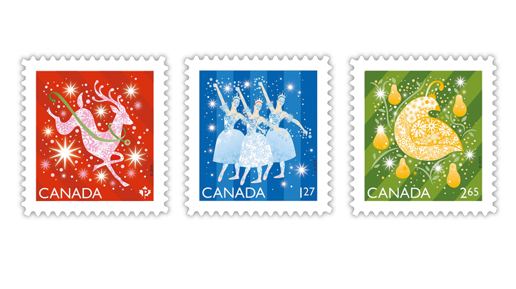 canada-2019-shiny-and-bright-christmas-stamps