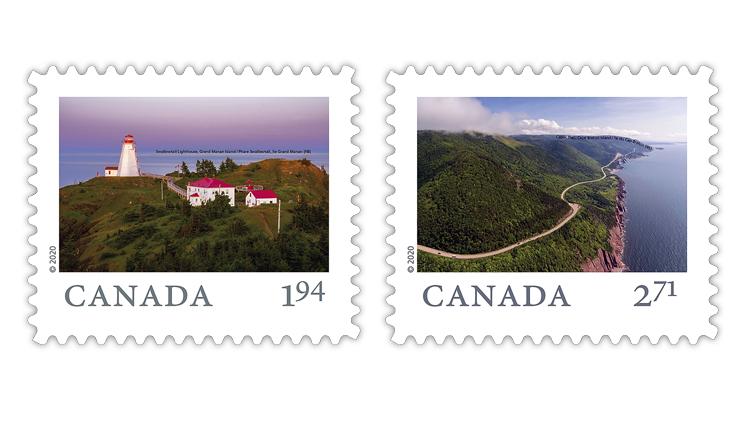 canada-2020-new-brunswick-grand-manan-cape-breton-island-stamps