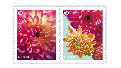 canada-2020-spring-flowers-dahlias-stamps