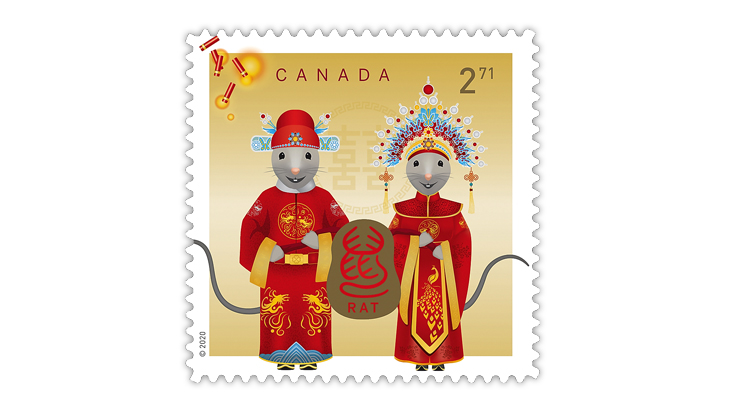 canada-2020-year-of-the-rat-bride-groom-stamp