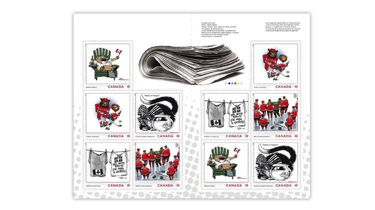 canada-2021-editorial-cartoonist-booklet-stamps