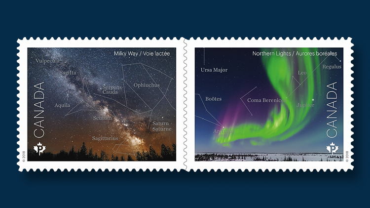 Night Sky S Beauty Shimmers On Canada Post Stamp Duo