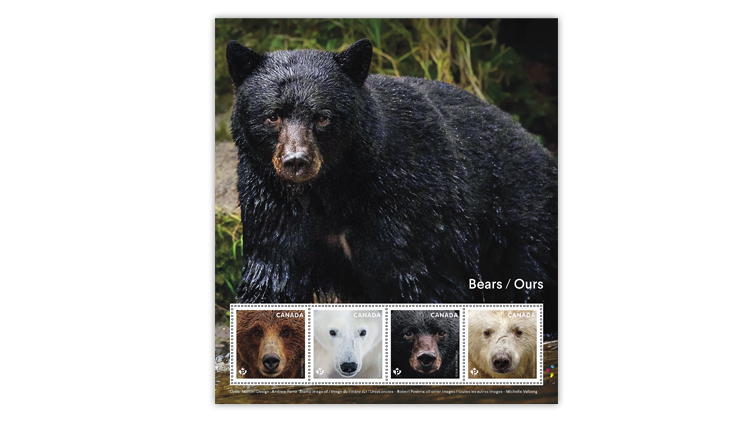 canada-bears-commemorative-stamp-pane