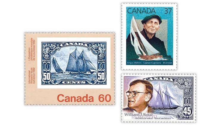 canada-bluenose-captain-angus-walters-designer-william-james-roue-stamps