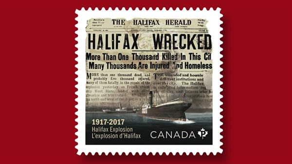 canada-commemorates-halifax-explosion-stamp