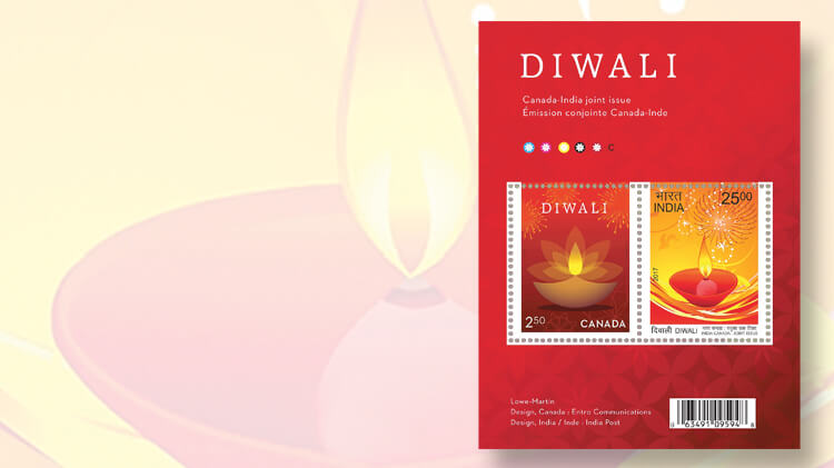 canada-diwali-souvenir-sheet-joint-issue-india
