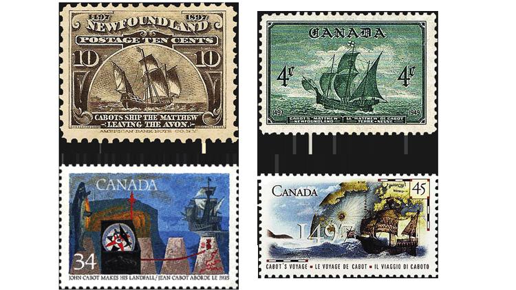 canada-explorers-john-cabot-ship-stamps