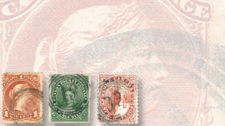canada-four-ring-numeral-cancels-beaver-large-queen-stamps