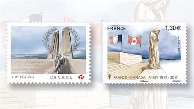 canada-france-battle-of-vimy-ridge-centennial-stamps