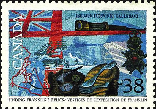 canada-franklins-relics-explorers-stamp-1989