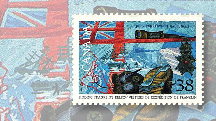 canada-franklins-relics-explorers-stamp