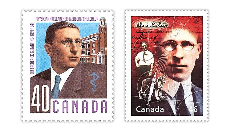 canada-frederick-banting-insulin-discovery-stamps