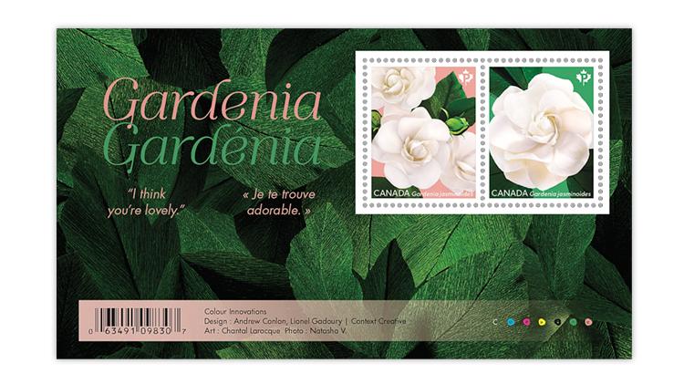 canada-gardenia-souvenir-sheet