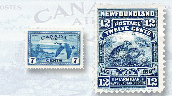 canada-geese-near-sudbury-airmail-stamp-willow-ptarmigan-stamp